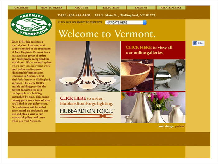 Handmade In Vermont webA
