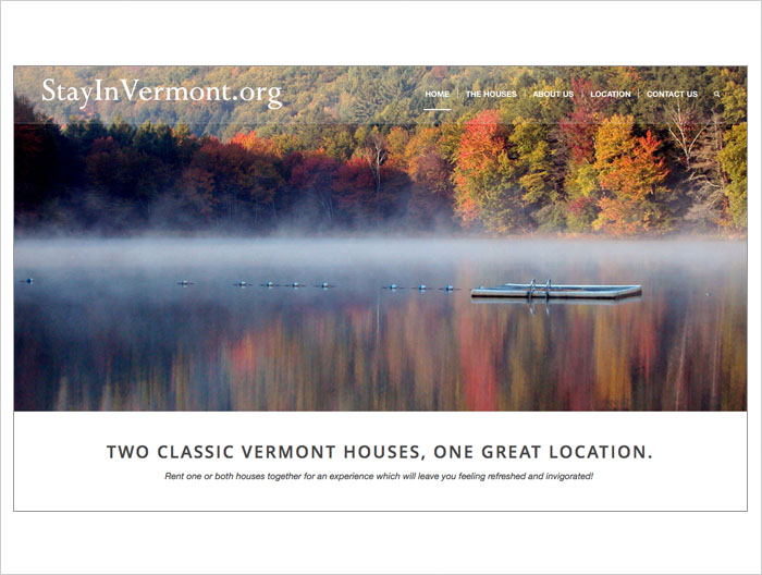 Stay In Vermont web