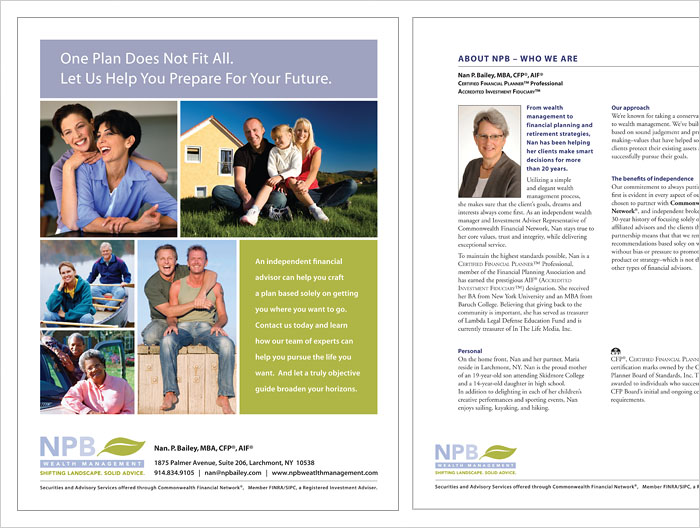 Nan Bailey brochure